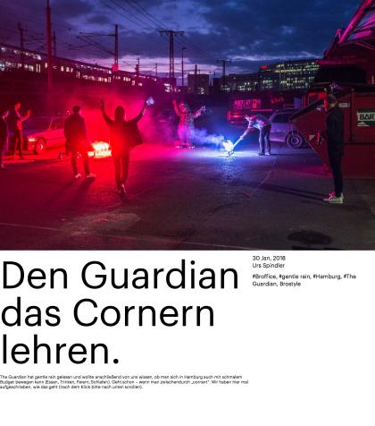 Den Guardian das Cornern lehren.
