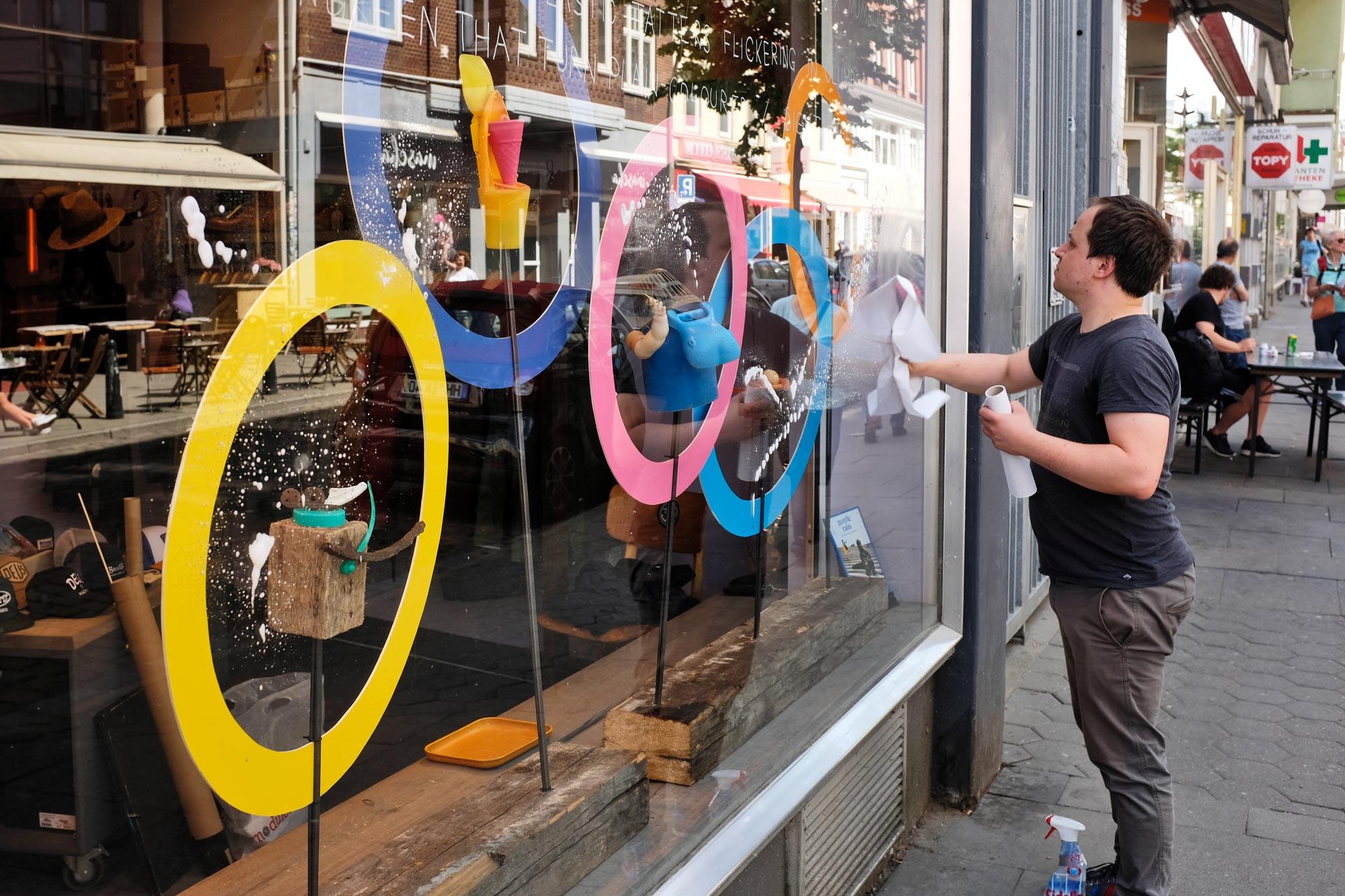 Artist Christian Wischnewski designs display