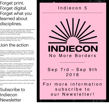 Indiecon 2018 – No More Borders
