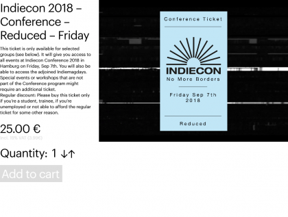 Indiecon 2018 – Conference – Reduced – Friday