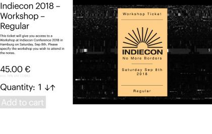 Indiecon 2018 – Workshop – Regular