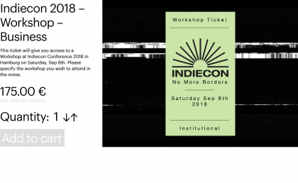 Indiecon 2018 – Workshop – Business