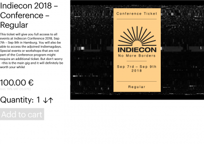 Indiecon 2018 – Conference – Regular