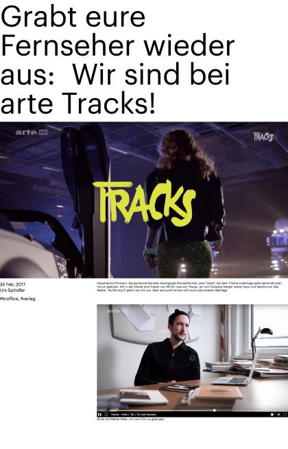 Grabt eure Fernseher wieder aus: Wir sind bei arte Tracks!