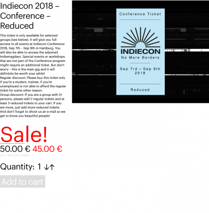 Indiecon 2018 – Conference – Reduced