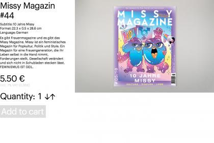 Missy Magazin #44