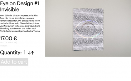 Eye on Design #1 Invisible