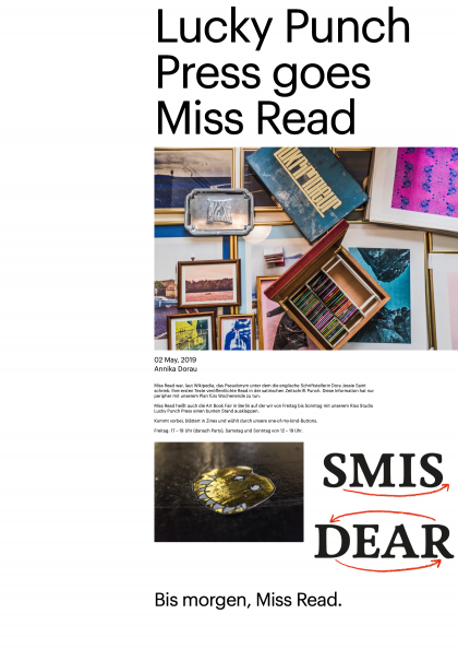Lucky Punch Press goes Miss Read