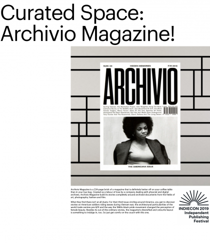 Indiecon 2019 with Archivio