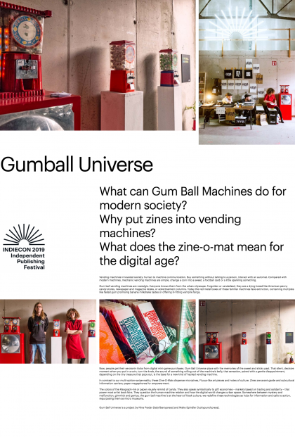 Indiecon 2019 – Gum Ball Universe