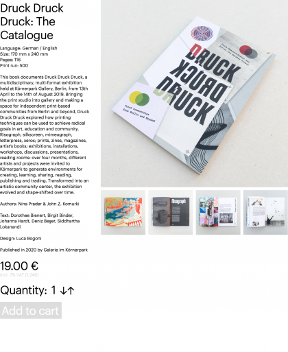Druck Druck Druck: The Catalogue